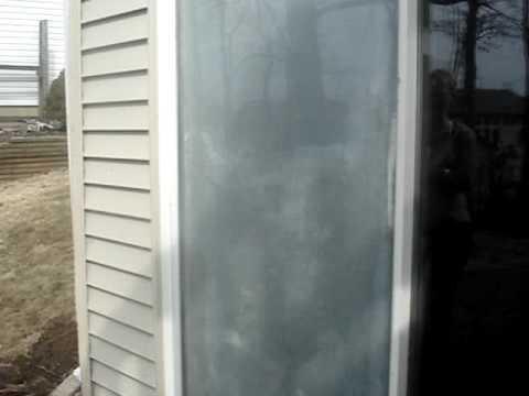 sliding glass door with broken seal.mpg - YouTube