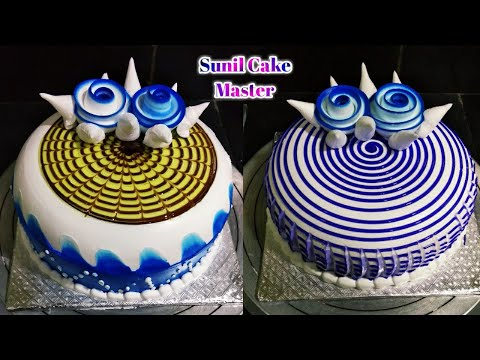 How To Make Two Amazing Counter Cake || Raund Flowers Decorations || Sunil Cake Master || Fancy Cake