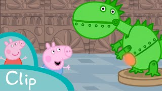 Peppa Pig Episodes - George visits the dinosaur museum (clip) - Cartoons for Children