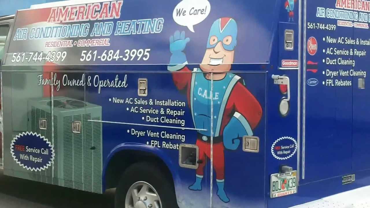 Ford KUV Van Vehicle Wrap Boca Raton Florida American Air