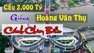 CẦU 2 000 TỶ HOÀNG VĂN THỤ HẢI PHÒNG GIỐNG CÁNH CHIM BIỂN CHECK IN FLYCAM