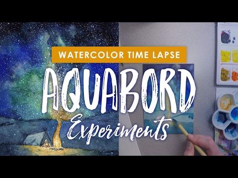 Watercolor Painting Process & Aquabord Experiments with Naomi VanDoren