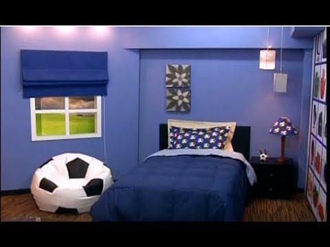 Cuartos de ni os puff pelota sabanas cuadros 3 5 youtube for Programa decoracion habitaciones
