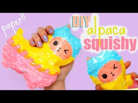 DIY ALPACA SQUISHY | how to make a squishy without foam #13