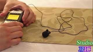 Zoom H4n Introduction - How to plug in a 3.5mm mic such as a Neewer Lavalier Mic