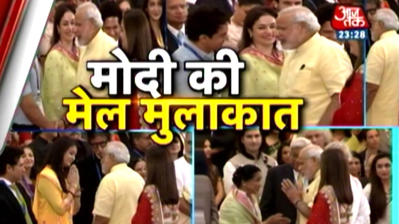 PM Modi meets Amitabh Bachchan, Aishwarya