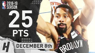 Spencer Dinwiddie Full Highlights Nets vs Knicks 2018.12.08 - 25 Pts, 6 Ast, 3 Rebounds!
