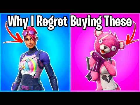 17 SKINS I REGRET BUYING IN FORTNITE...