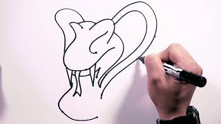 How to Draw Mister Cobra - Draw Easy | Freehand Easy-to-Follow Drawings