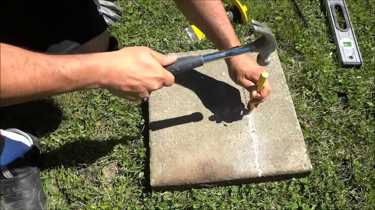 Perfect How To Split A Stone Paver With A Chisel