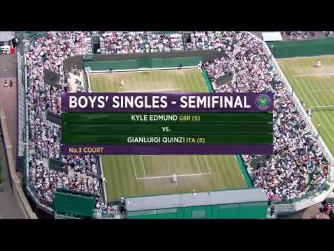 Kyle Edmund v Gianluigi Quinzi (Jr.  Wimbledon SF)