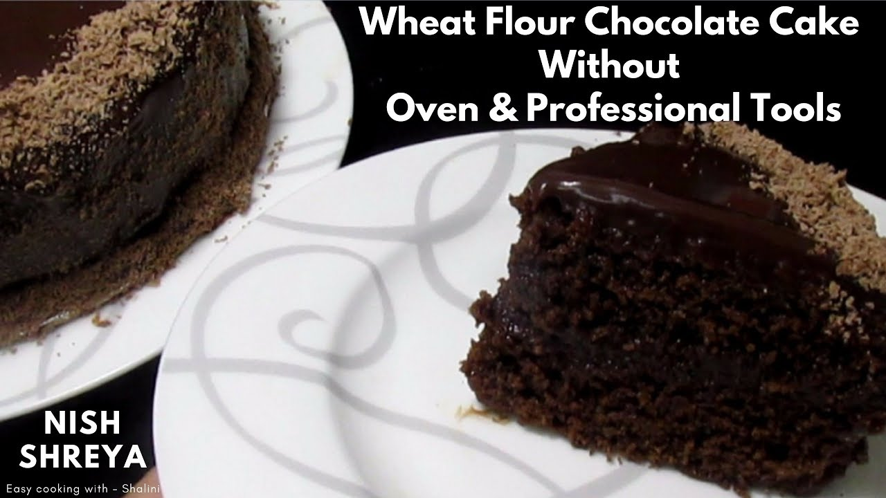 Eggless Cake Recipe In Marathi With Oven: Eggless Chocolate Cake From Wheat Flour Without Oven