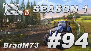 Farming Simulator 15 - Season 1 - Episode 94 - Combining three fields! (with time lapse)
