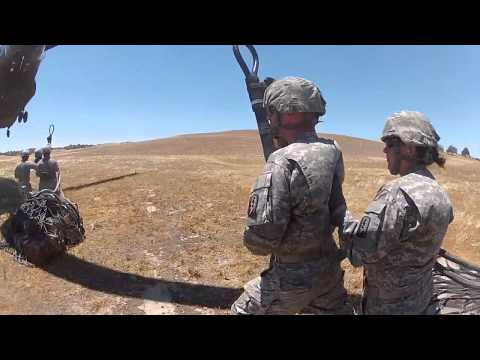 Sling load with Chinook and MREs