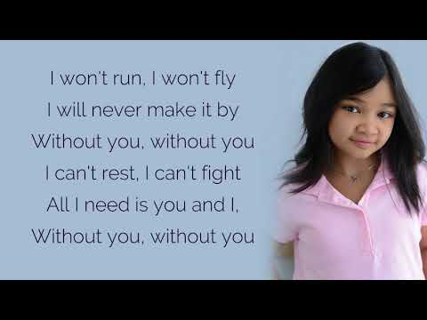 Angelica Hale - Without You / Lyrics (America's Got Talent)