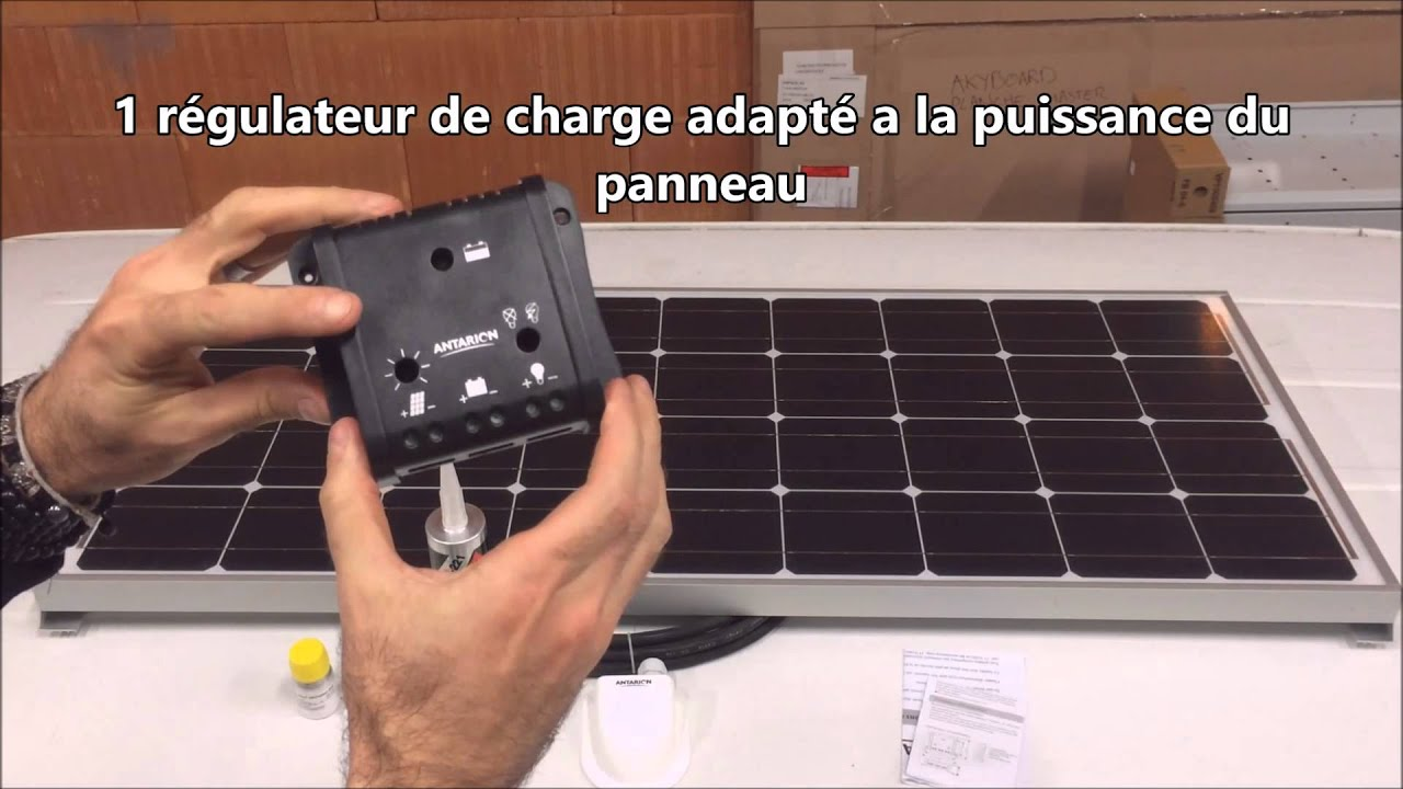 kit panneau solaire 12v antarion pour camping car bateau fourgon youtube