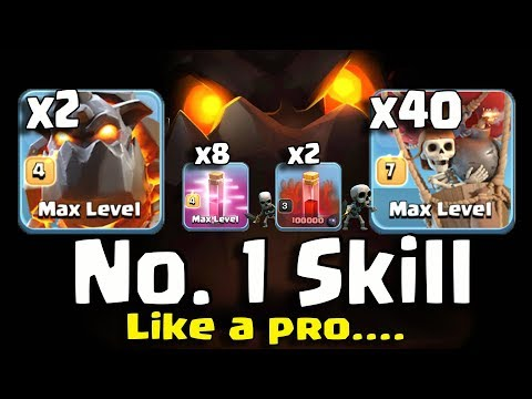 8 HASTE SPELL+ 2 SKELETON SPELL+ 2 LAVA+40 BALLOON=NO.1 SKILL Like A PRO TH11 BEST WAR STRATEGY 2018