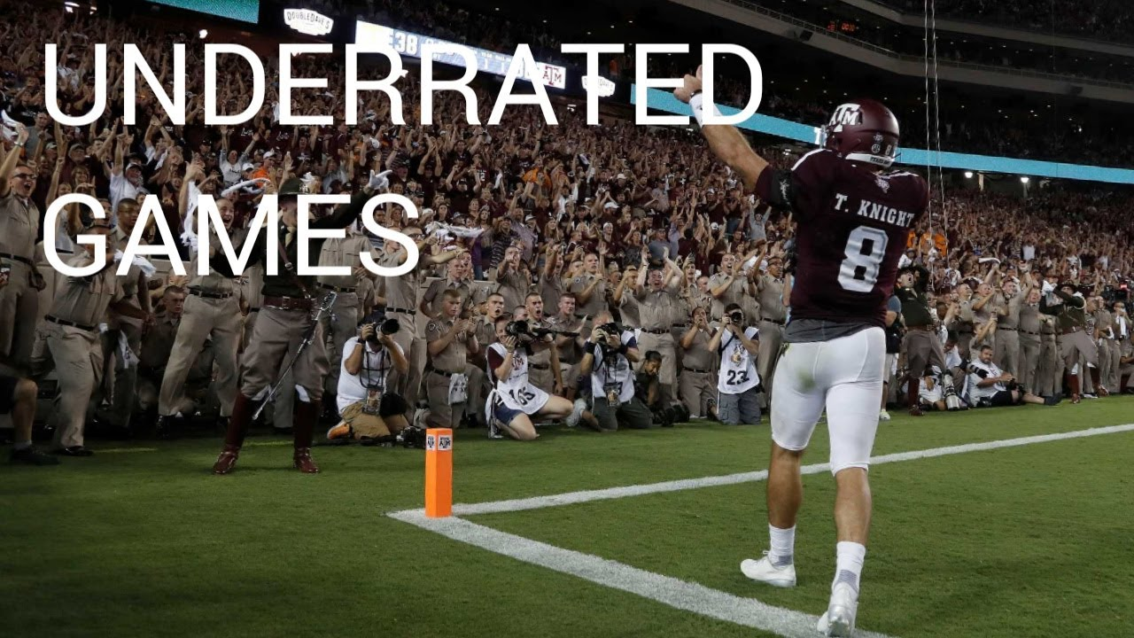 College Football Underrated Games Compiliation