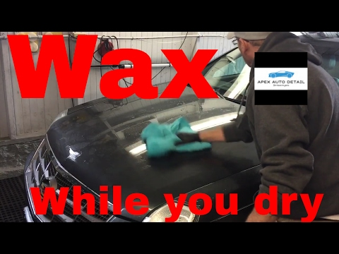 HOW TO WAX WHILE YOU DRY (Save valuable time and combine a few steps!!)