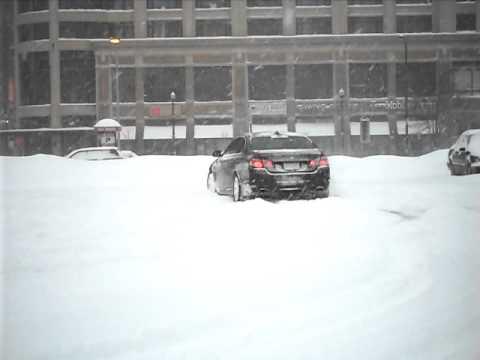 2011 BMW 550i Xdrive in Snow