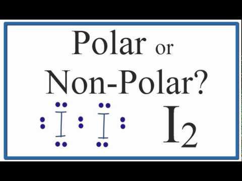 Is I2 Polar or Non-polar?  (Iodine Gas)