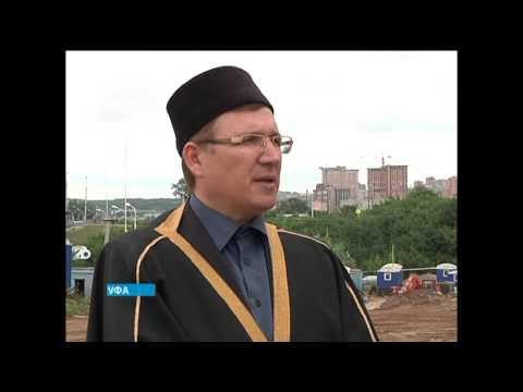 В Уфе установлен главный купол на крупнейшей Соборной мечети в Европе