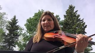 "Day 172 - ""Boo Baby's Lullaby"" - Patti Kusturok's 365 Days of Fiddle Tunes"