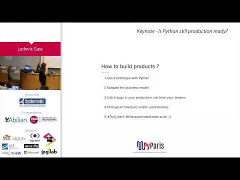 Image from Keynote: Is Python still production ready ?
