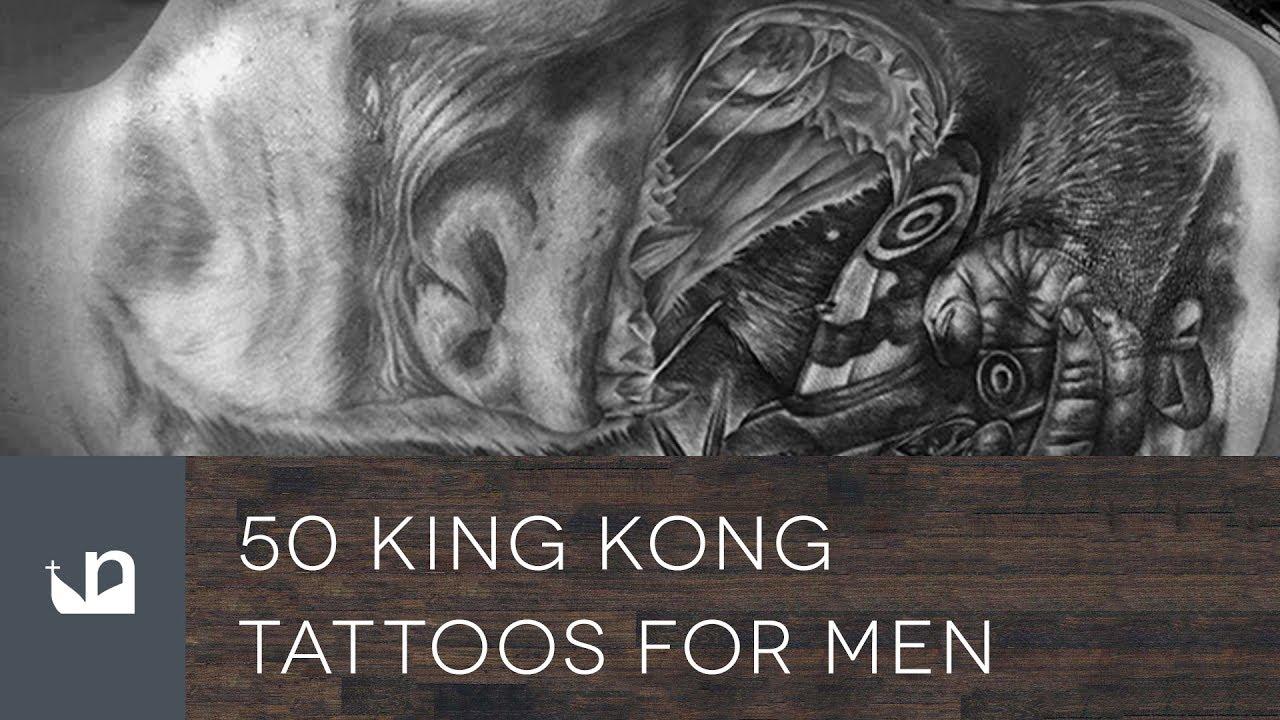 50 King Kong Tattoo Designs For Men – Furious Gorilla Ink Ideas