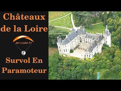 Chateaux de la Loire en Paramoteur