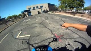 motorcycle license test on ninja 250