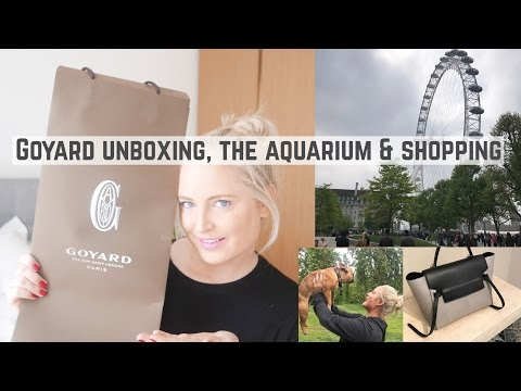 GOYARD UNBOXING, LUXURY SHOPPING & VISITING THE LONDON AQUARIUM (VLOG) | Chloe James
