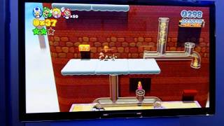 Super Mario 3D World - Level 4-2 Translucent Pipes Gameplay Footage (E3 2013 Wii U)