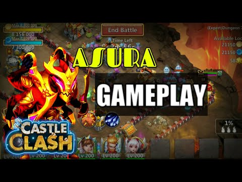 Castle Clash | Asura Gameplay By Heroes' Lab