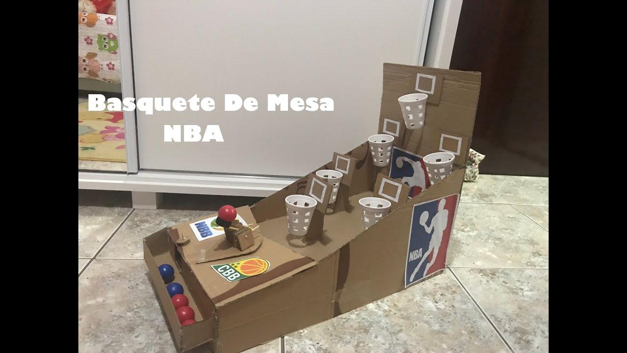 Como Fazer Jogo Basquete de Mesa (NBA Basketball)
