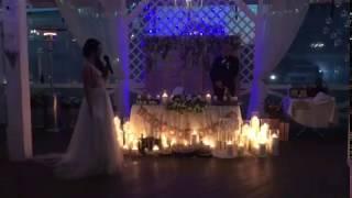 Как украсить свечами президиум. Трогательная речь невесты.