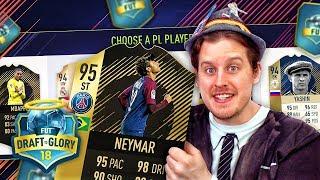 OMG STRIKER NEYMAR IS INSANE! DRAFT TO GLORY #1! FIFA 18 ULTIMATE TEAM