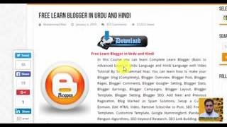 Put ads Below Post title and Post Footer in Blogger in Urdu Hindi
