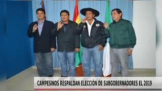 CAMPESINOS RESPALDAN ELECCIÓN DE SUBGOBERNADORES