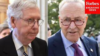 JUST IN: McConnell Declares Schumer's Just-Announced Afternoon Infrastructure Vote Will Fail