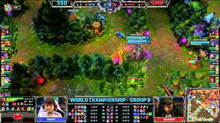 SSO vs GMB Tie breaker | Samsung Galaxy Ozone vs Gambit Tie Breaker Worlds 2013 Day 6 Group B D6G6