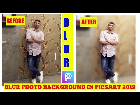 How to blur photo background like dslr | Picsart tutorial | Edit like Photoshop