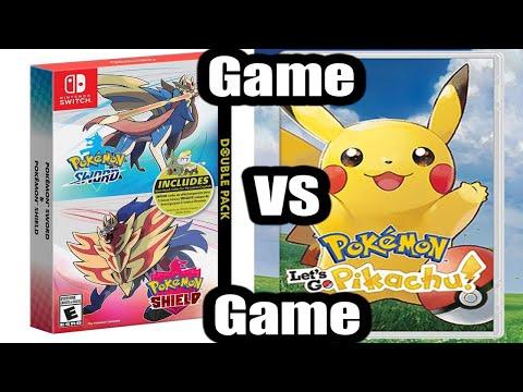 Let's Go Pikachu & Eevee VS Pokemon Sword & Shield: Game VS Game