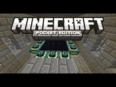 [0.17.0] Minecraft Pocket Edition - How to Make an End Portal Tutorial!