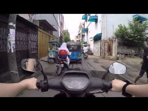 Driving Motorcycle in West Jakarta Part 1