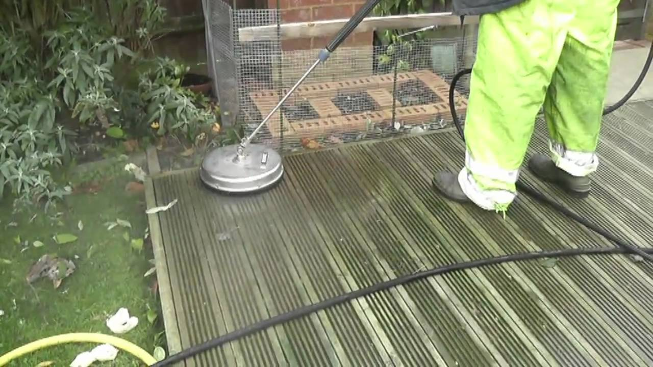 How To Clean Decking By Jet A Drive You