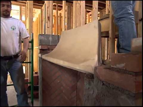 Installing the Fireplace Throat and Flue - YouTube