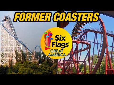 The Former Coasters of Six Flags Great America!