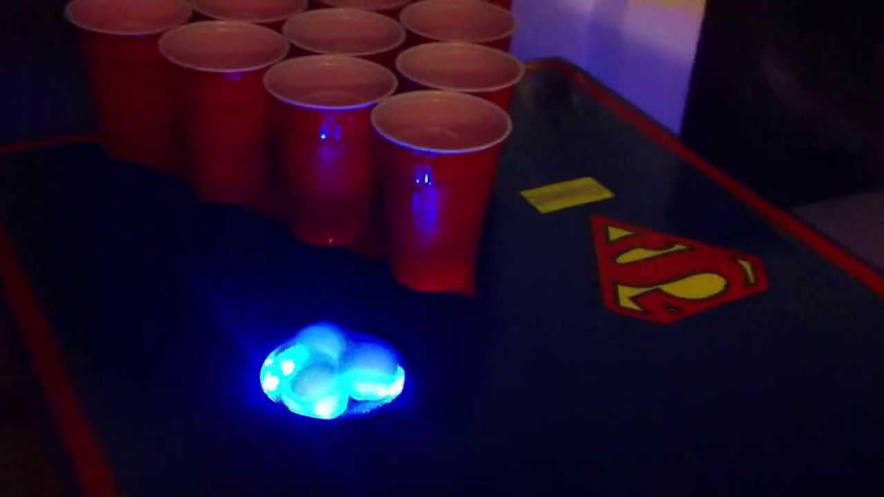 Superman Beer Pong Table W Ball Washer And Led Lights