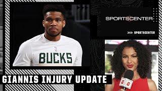 Malika Andrews on Giannis Antetokounmpo's injury and status for #NBAFinals Game 1